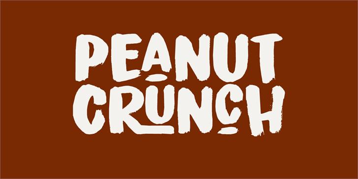 Peanut Crunch DEMO Font design typography