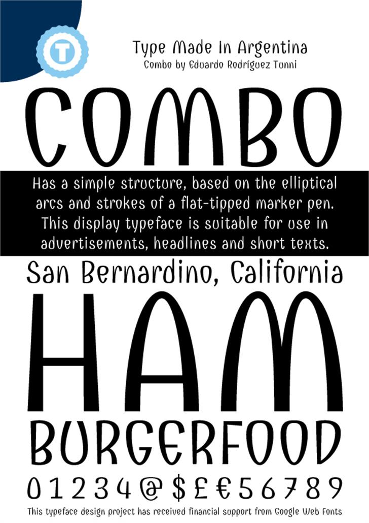 Combo Font text book