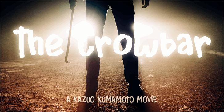 DK Crowbar Font poster dance