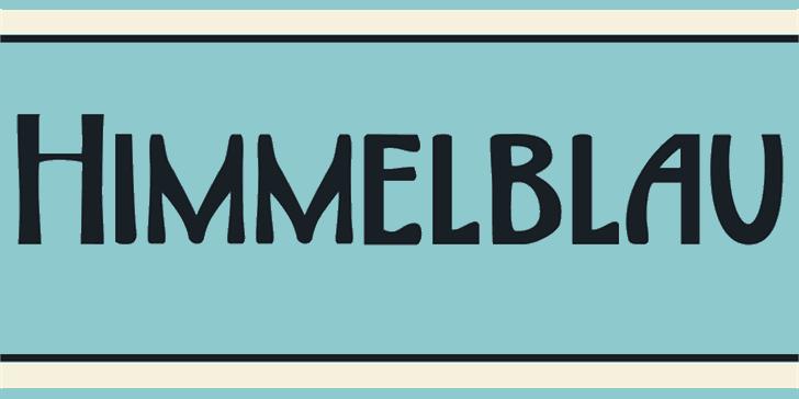 DK Himmelblau Font abstract text