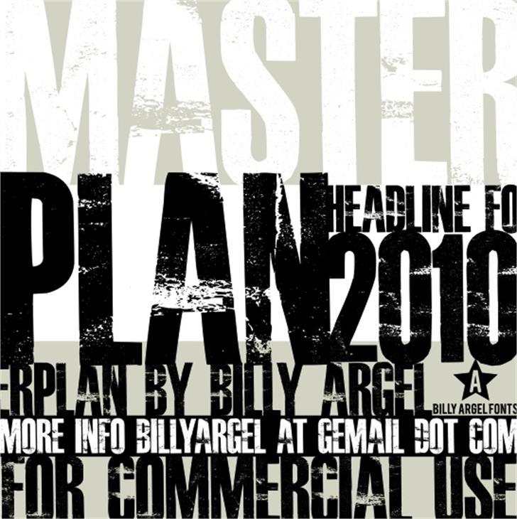 MASTERPLAN Font poster typography