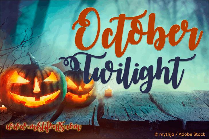 October Twilight font by Misti's Fonts