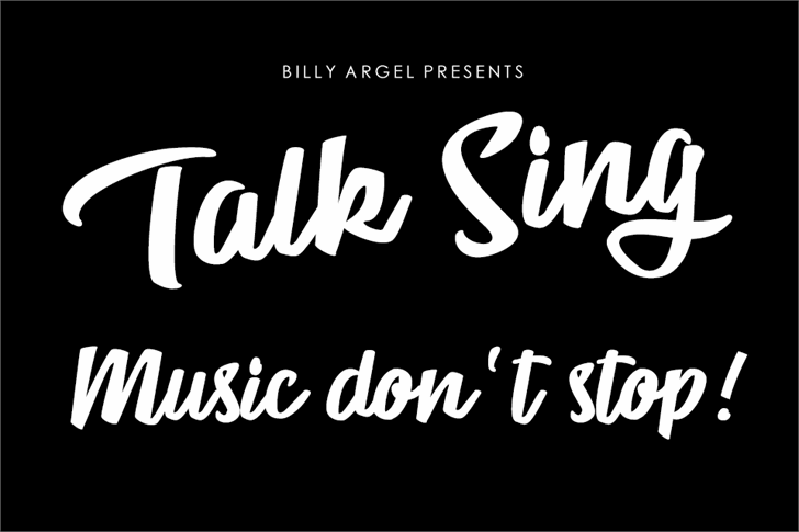 Talk Sing Personal Use Font poster