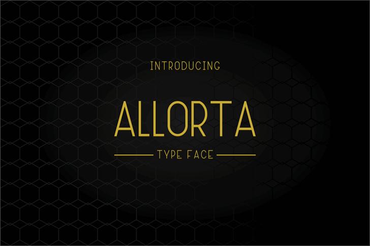 Allorta Font screenshot design