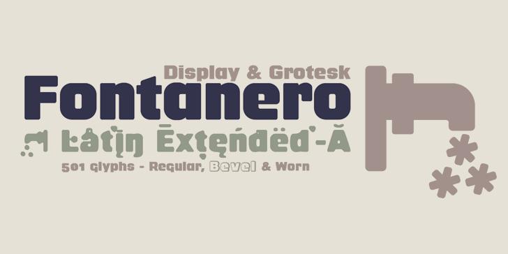 Fontanero Font design typography