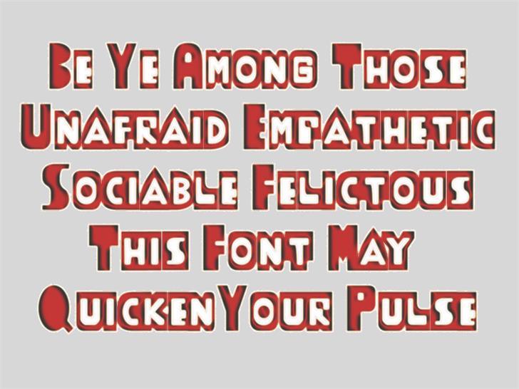 ThudThunk Font poster screenshot