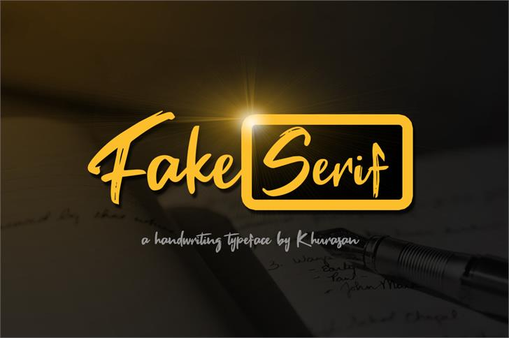 Fake Serif font by Khurasan