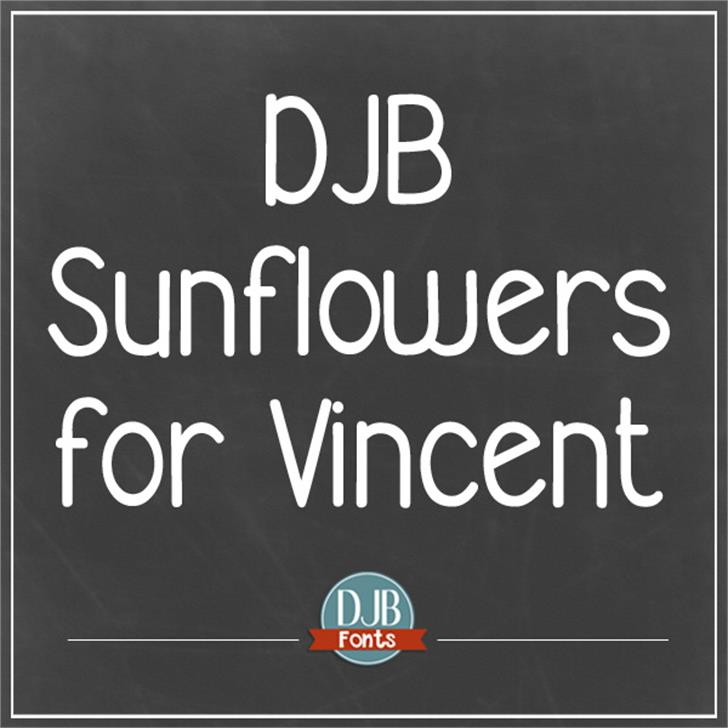 DJB Sunflowers for Vincent Font screenshot text