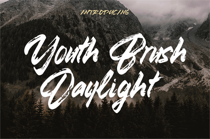 Youth Brush Daylight Font handwriting