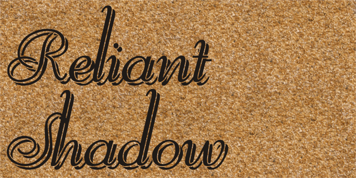 Reliant Shadow Free Font handwriting mat
