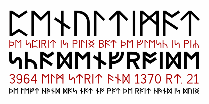 Beorc Gothic Font design graphic