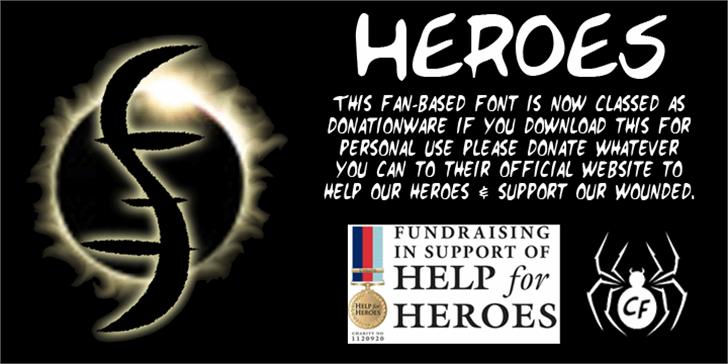 HEROES Font screenshot poster