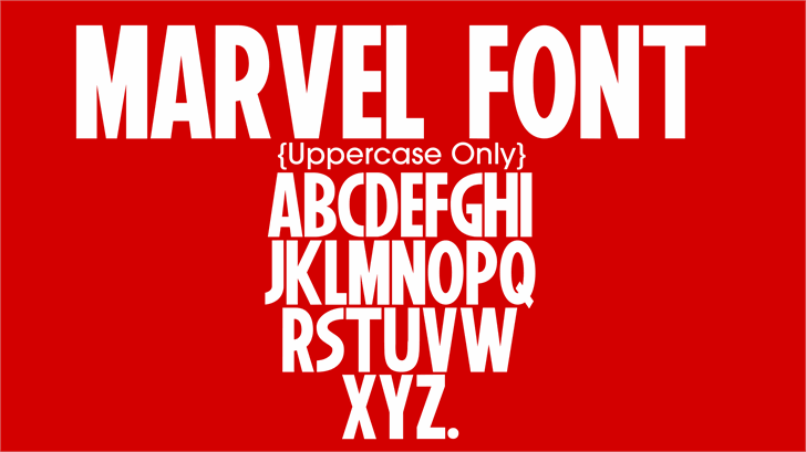 Marvel font by YbtFonts