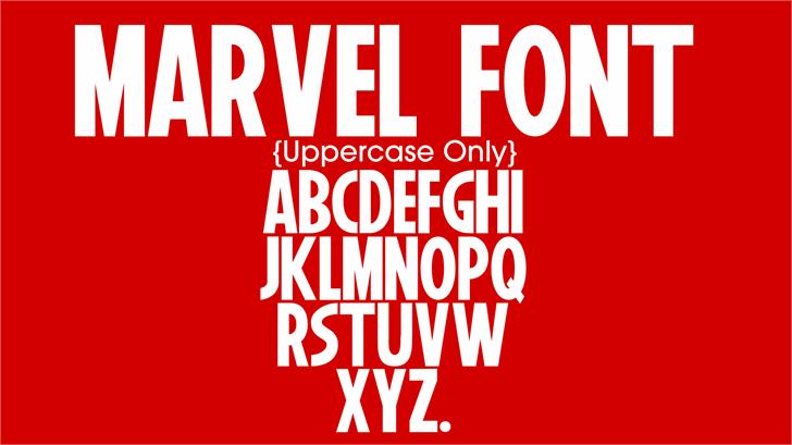 Marvel Font poster design