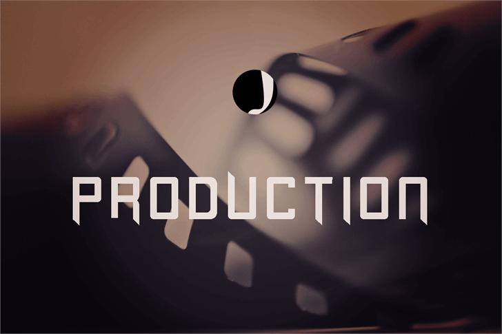 Production Font screenshot design