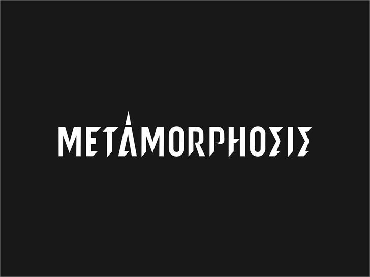 metamorphosis Font poster
