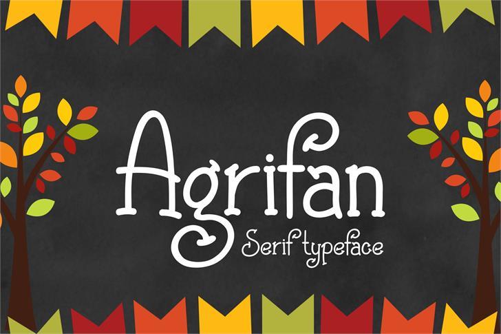 Agrifan Font poster design