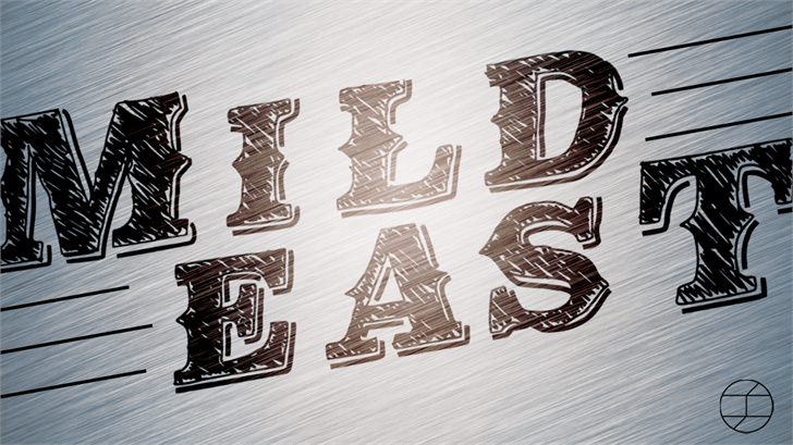 MildEast Font drawing design