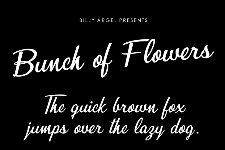 Bunch of Flowers Personal Use Font text handwriting