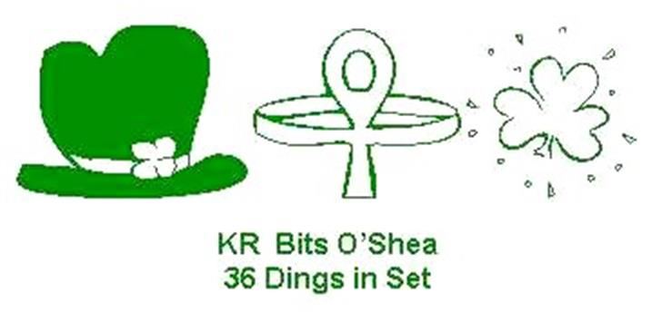 KR Bits O'Shea Font design cartoon