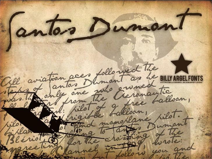 SANTOS DUMONT Font handwriting letter