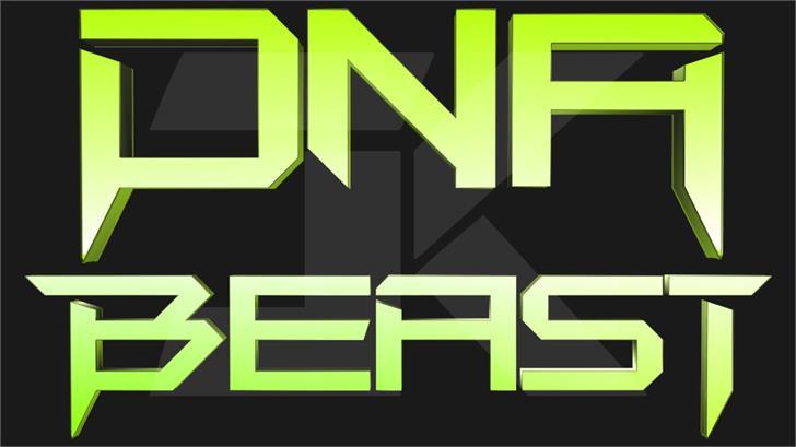 DNA Beast Font cartoon poster
