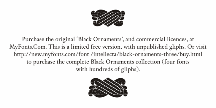 Black Ornaments Free Font design cartoon