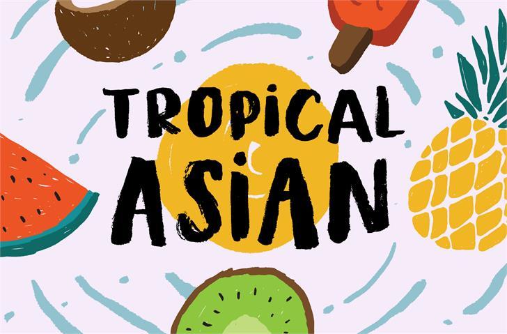 Tropical Asian DEMO font by Konstantine Studio