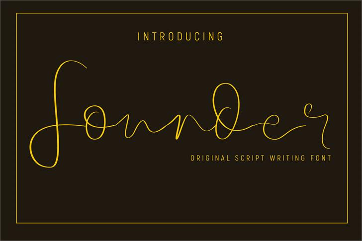 Founder Font design graphic