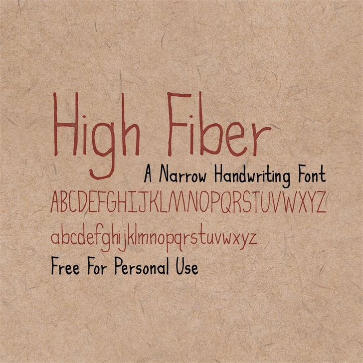 High Fiber Font poster