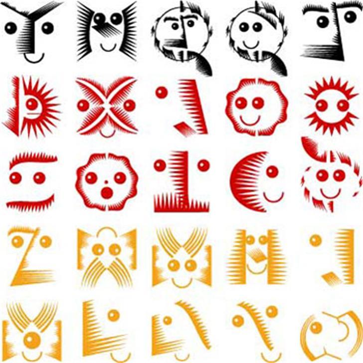 VectorPaintigs Font cartoon design