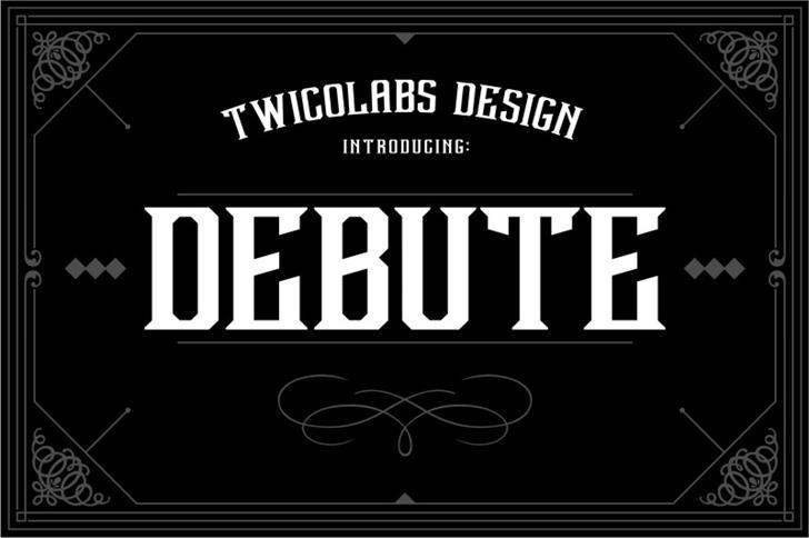 Debute Font design poster