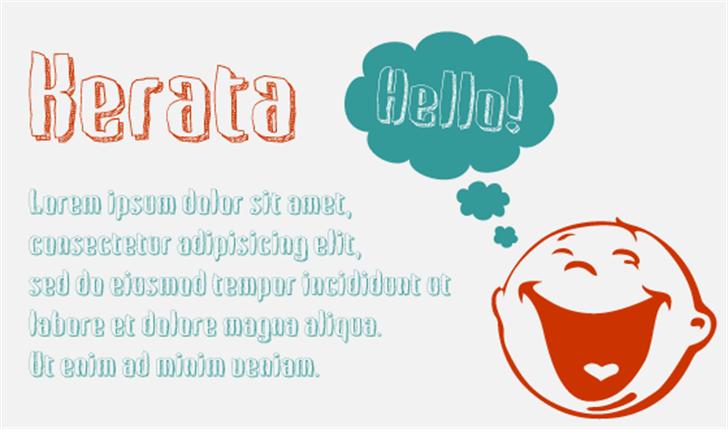 Kerata Font design text