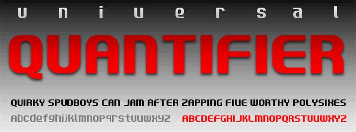 Quantifier NBP Font screenshot poster