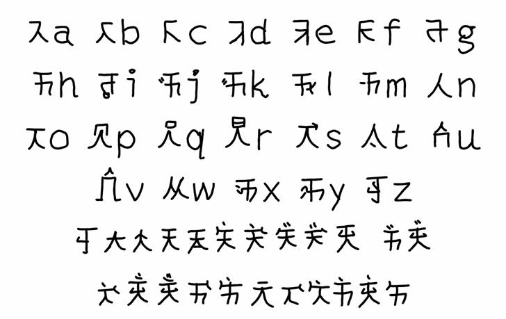 mantrakshar T Font Letters Charmap