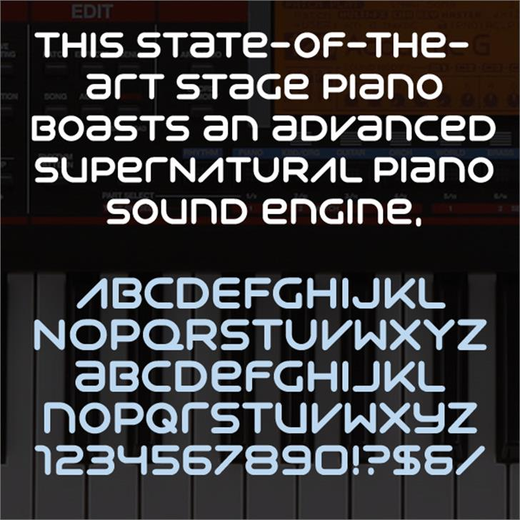Syntha font by Neogrey Creative