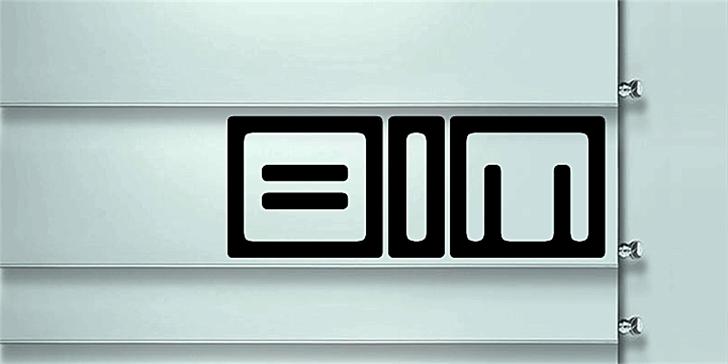 Bim Font logo abstract