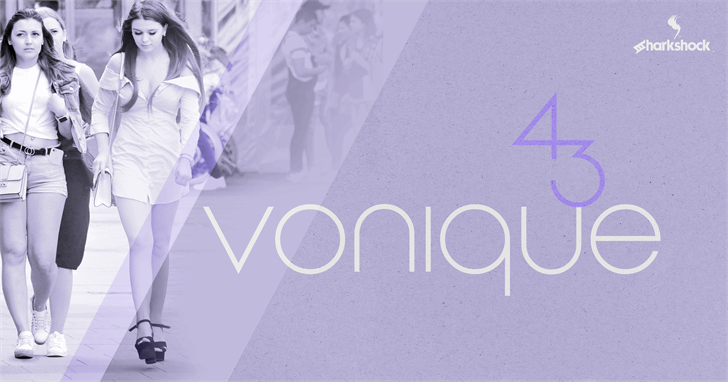 Vonique 43 font by sharkshock