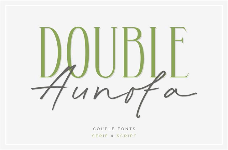 Aunofa Serif DEMO Font handwriting design