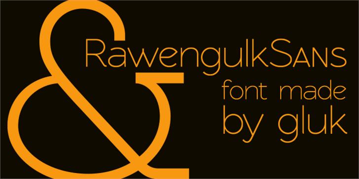 RawengulkSans font by gluk