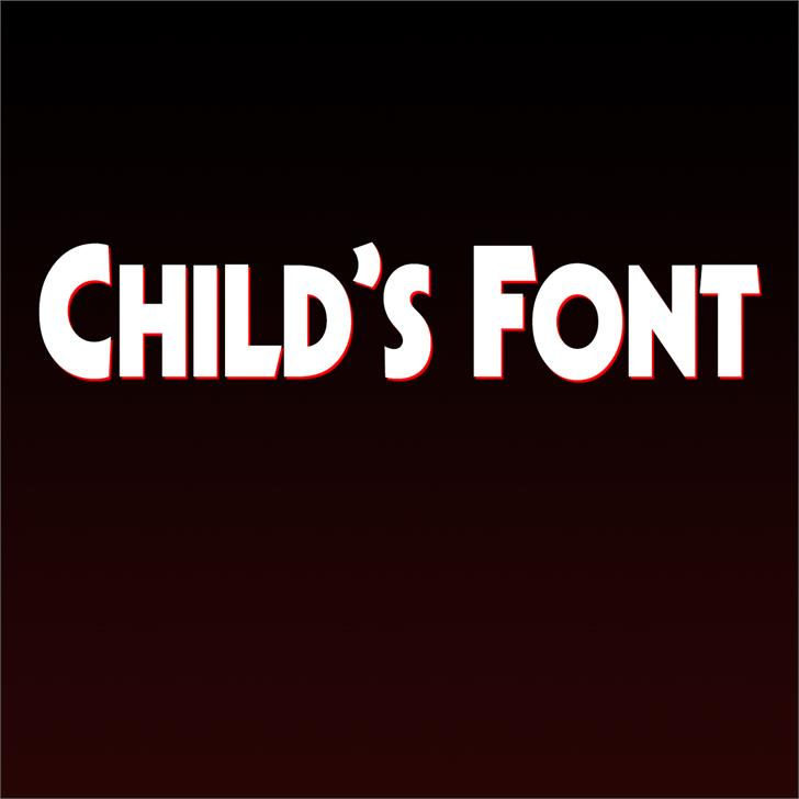 Child's Font screenshot design