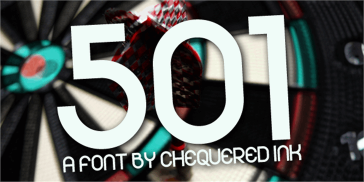 501 Font screenshot poster