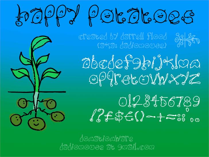 Happy Potatoes font by Darrell Flood