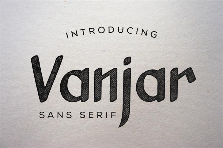 Vanjar Font text