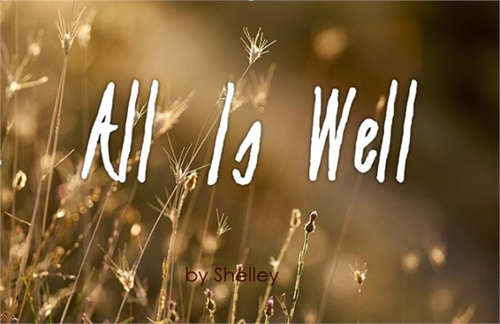 All Is Well Font fireworks blur