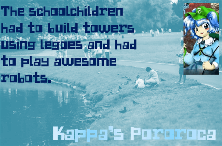 Kappa's Pororoca Font swimming water