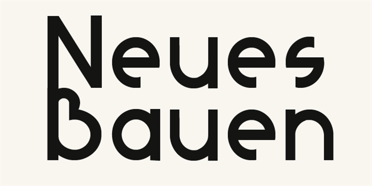 Neues Bauen font by David Kerkhoff