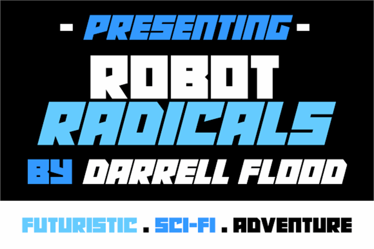 Robot Radicals Font text screenshot