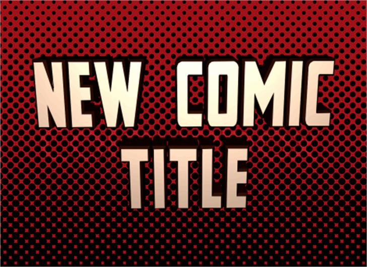 New Comic Title Font poster screenshot
