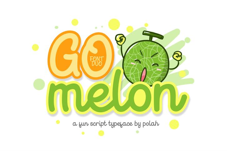 Go Melon Font cartoon design